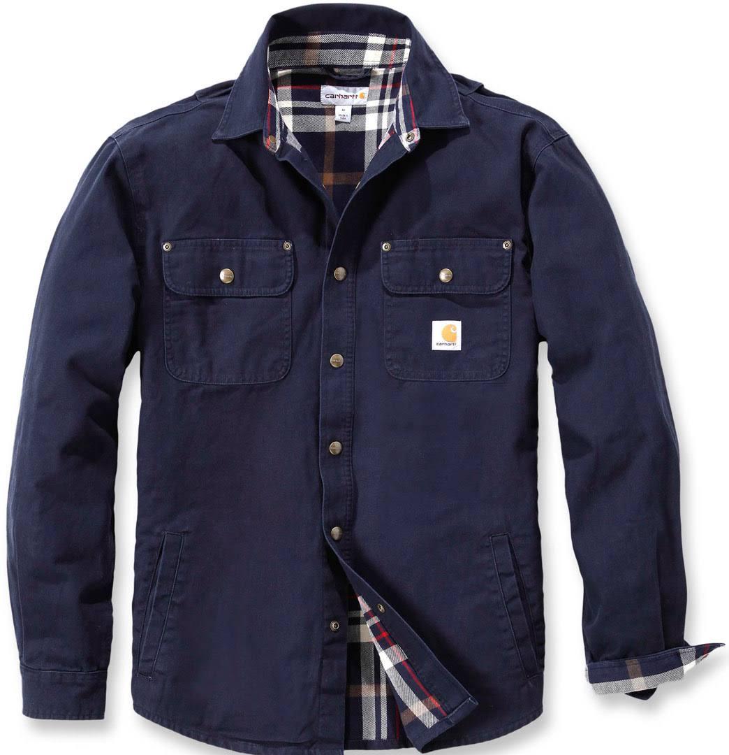 Weathered Blue Camisa Carhartt De Lona Xxl Navy pvq117