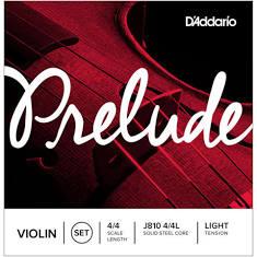 D'Addario Prelude - Juego de cuerdas para violín, Tensión suave, 4/4 Scale