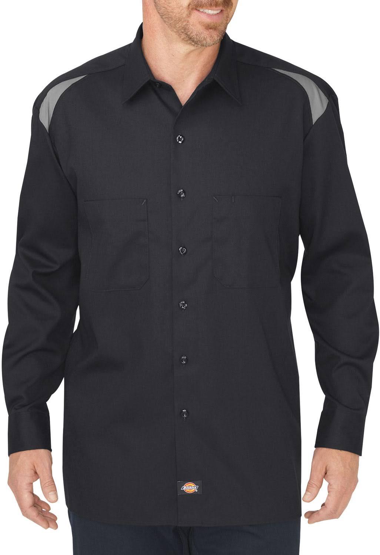 Regular De Larga Manga Ll605 M Camisa Negro Performance Humo Team Dickies xYnvxqPI