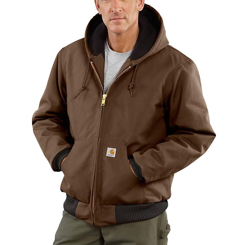 J140 Franela Acolchado Jacket 12 De Onzas 100 Duck Carhartt Regular Pato Active Algodón Para Acolchada Peto Coffee Hombres Con Y dUPwOnq1Ox