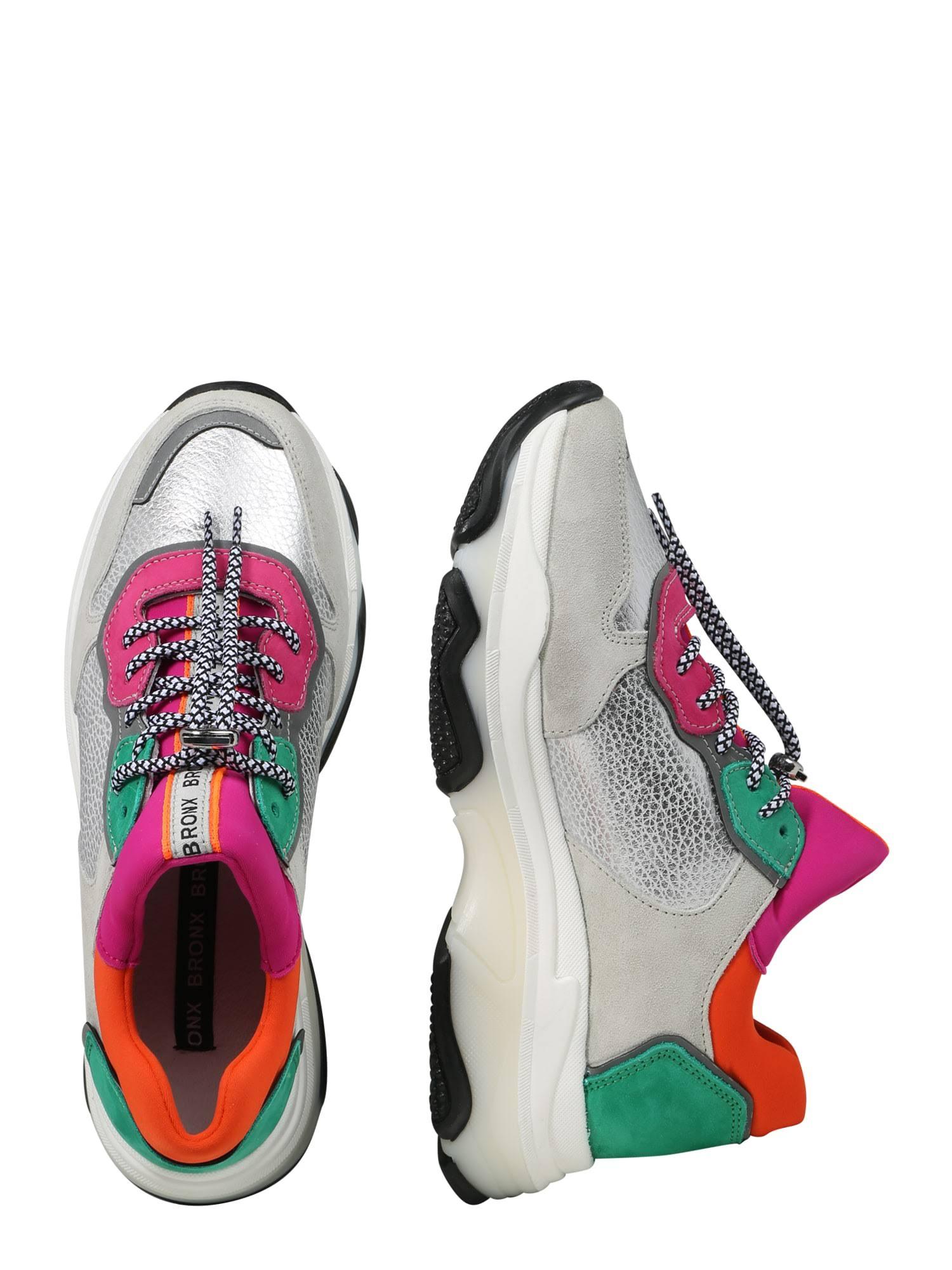 Baisley Textiel Sneakers fuchsiaDamesMaat39LichtgrijsLeer Offwhite silver Laag En Bronx qSzpGULMjV