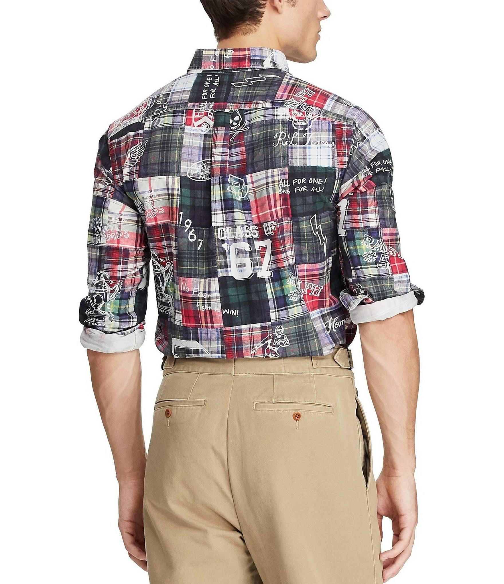 Remiendo 2xl Para Clásico Polo De Camisa Hombres Ralph Corte Lauren Sketchbook 0qwvIZ