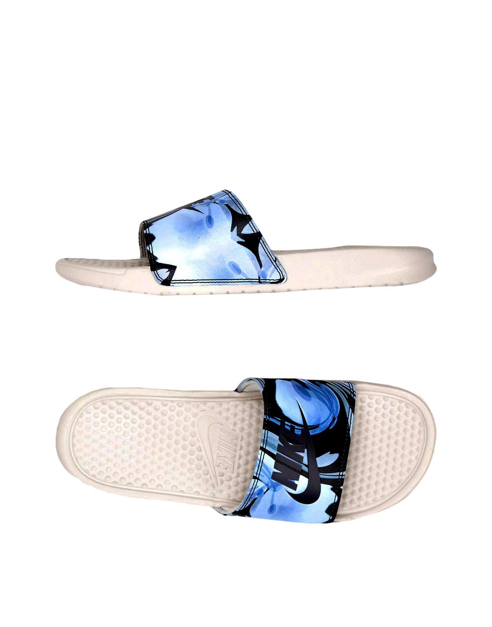 hemelsblauwe 35rubber Nike Print For sandalen Jdi Benassi Women 54RALq3j