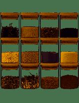 GoMaihe 150ML Petit Bocaux Conservation Verre, Hermétique Bocal en Verre avec Couvercle en Bambou et Rondelle en Silicone Pot en Verre à Haute