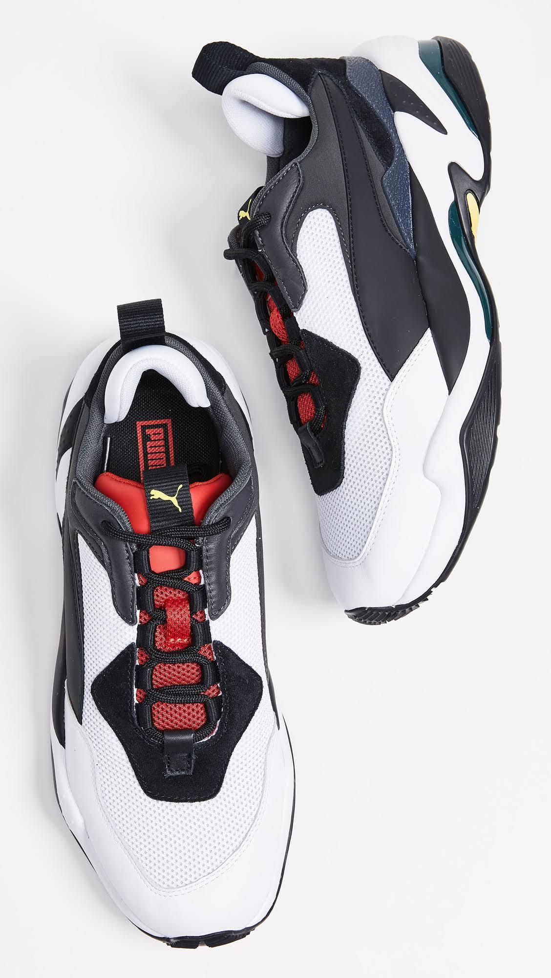 Puma Thunder herenzwartmaat voor zwarthoog risico 9 sneakers 5 rood lederen Spectra Y7Iv6ybfg