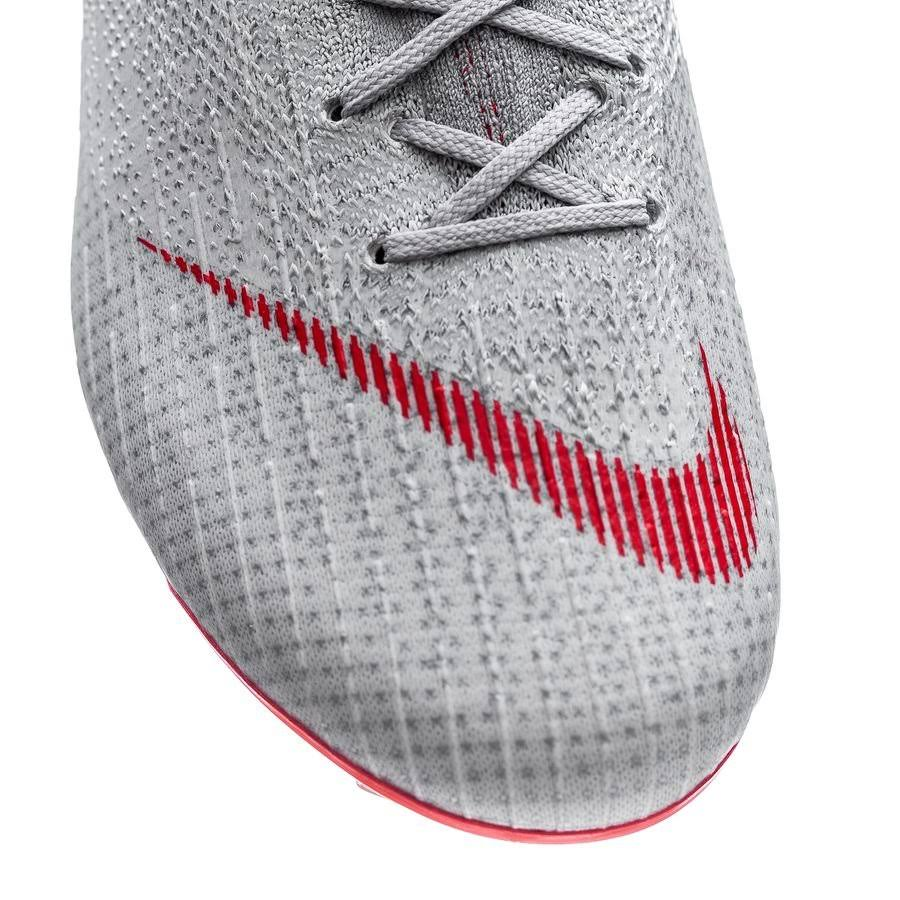 Nike football shoes football nike superfly 6 elite fg 2019 man wolf grey/lt crimson-pure platinum