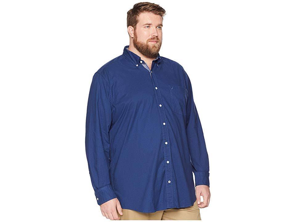 De Hombre Elástico Camisa Oxford Alto Clásico Nautica Para Corte I1q05Pw0n