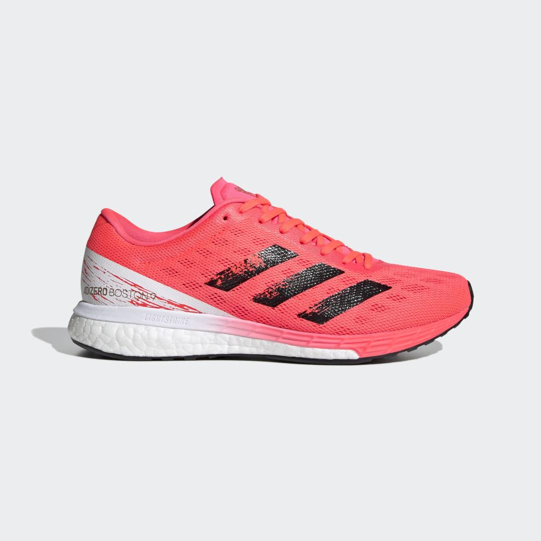 Adidas Adizero Boston 9 Shoes Running - Womens - Pink