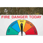 Fire Danger Warning Sign, Queensland, Australia - FramedArt.com