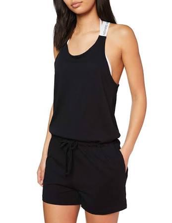 Calvin Klein - Beach Playsuit - CK Logo - Black - S - Women  WRZaL08
