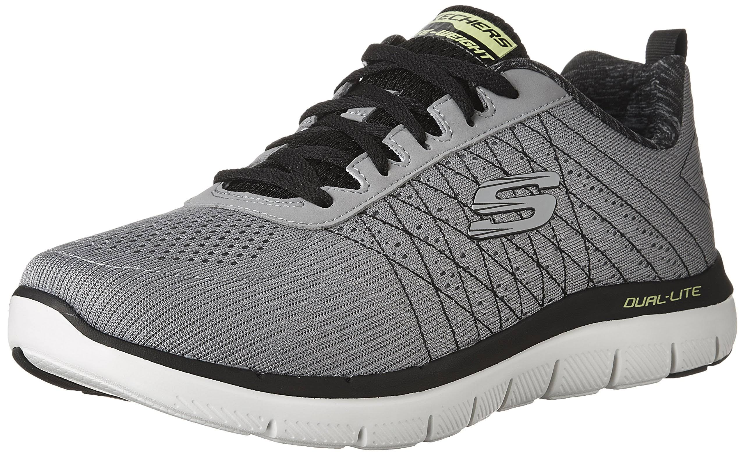 Advantage Textile Trainers Flex Skechers 0 light Size Grey The Light Sport Men's Grey Grey 7 black black 2 Happs ECqxZC