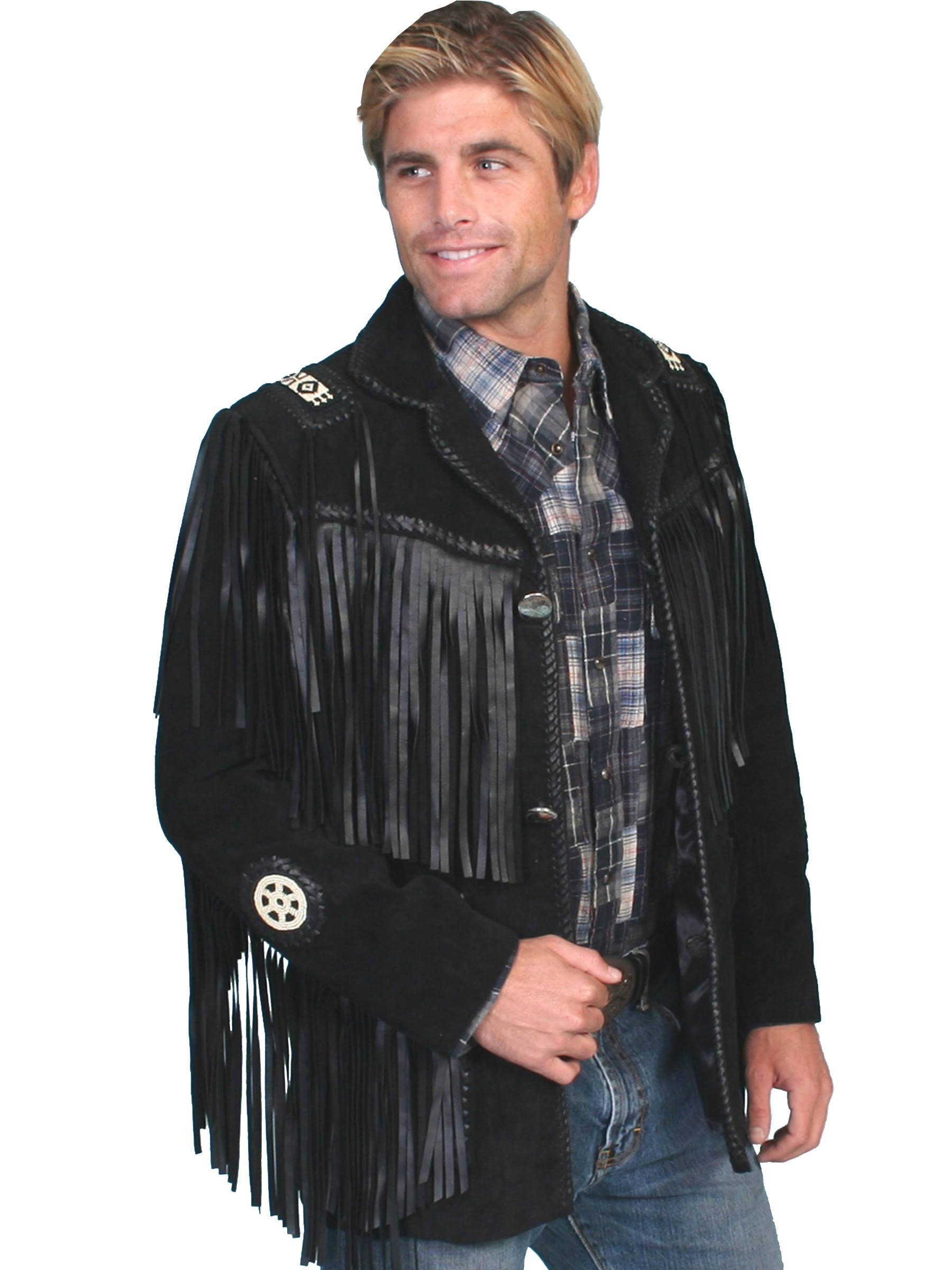 Handlaced Schwarz Coat Scully 36 Trim 19 758 Mens Bead ZxqfO