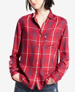 5c 351 Boyfriend Shirt 54 Tamaño Plaid Button Levi Up 50 Msrp aTzqzvF