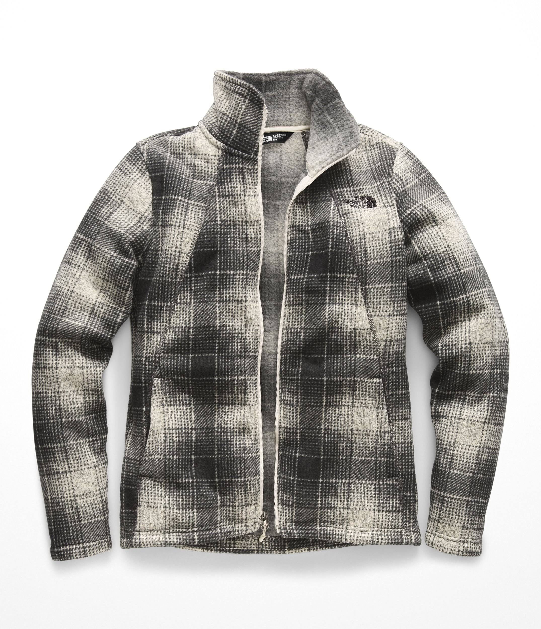 Cremallera Xs Ombre Blanco North The Plaid Para Vintage Mujer Completa Regular Face rYrvwz46q