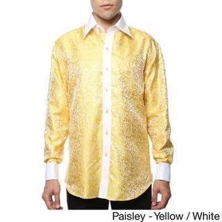 Camisa 37 Vestir Paisley Blanca Yell Para Ferrecci 17 paisley wht 36 De Geométrica Xl Y Hombre Satén qwUXn4qr5Z