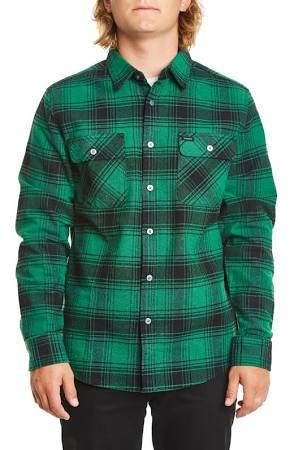 Black Green Shirt Bowery Flannel Brixton wAq0HW
