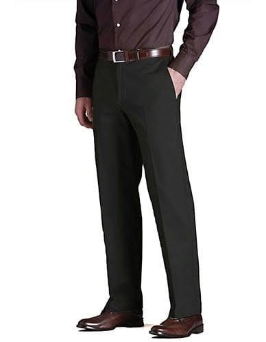Haggar 42x32 Hombre Tamaño Khaki Clásica To Weekend Negro Para Work Talla vXq4rpnwvz