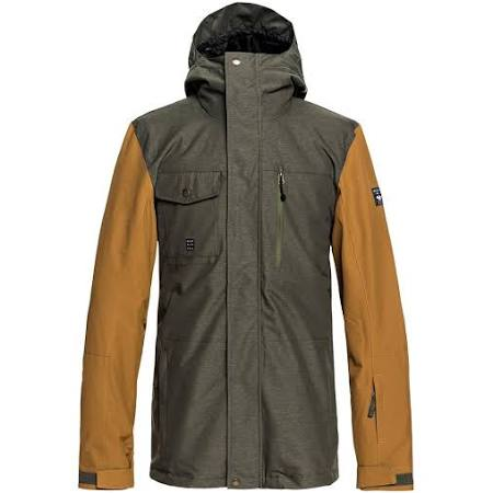 Hombres 3in1 Mission Shell L Snow Marrón Talla Jacket Quiksilver 5SqXFwxdS