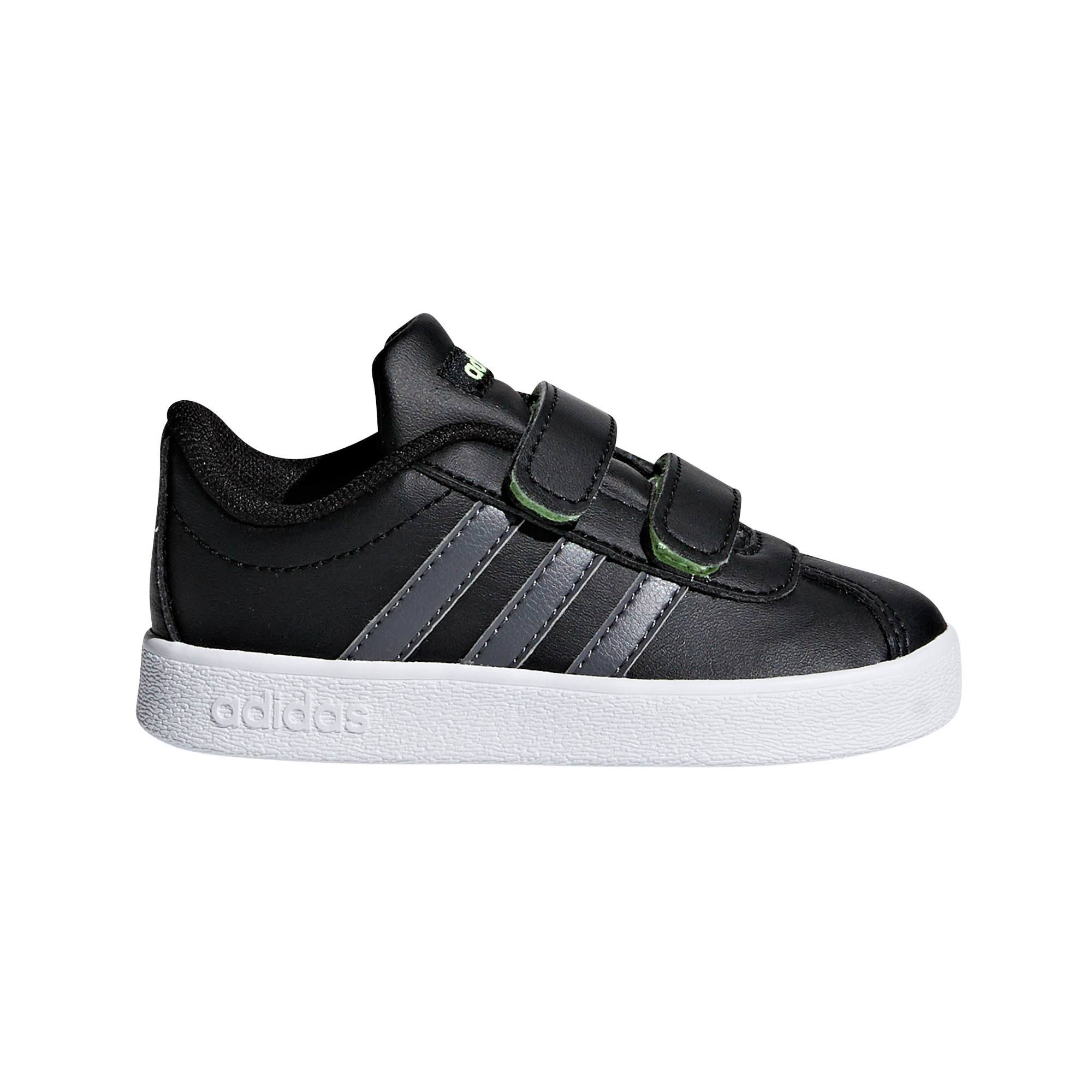 Adidas VL Court 2.0 Infant Trainer Black - UK 9