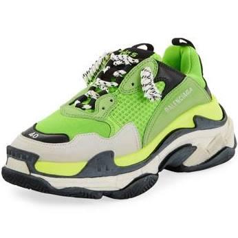 Deporte Balenciaga Zapatillas Para Malla De 12d Y S Triple Hombre Verde 6qHUw