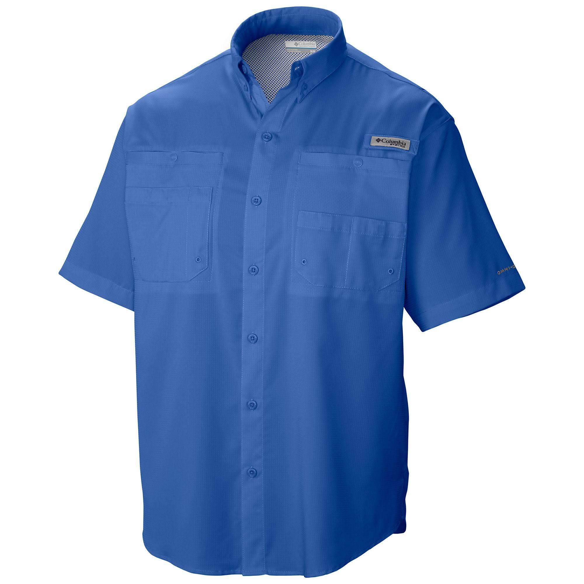 De Para Corta Columbia Manga Hombre Vivid M Blue Regular Tamiami Camisa Ii AFWqCOnCx
