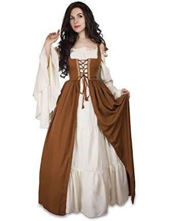 Mittelalterliches Aus Über s Kupfer Sahnehemd Kleid Irisches M Kostüm Und Renaissance HcUFHW
