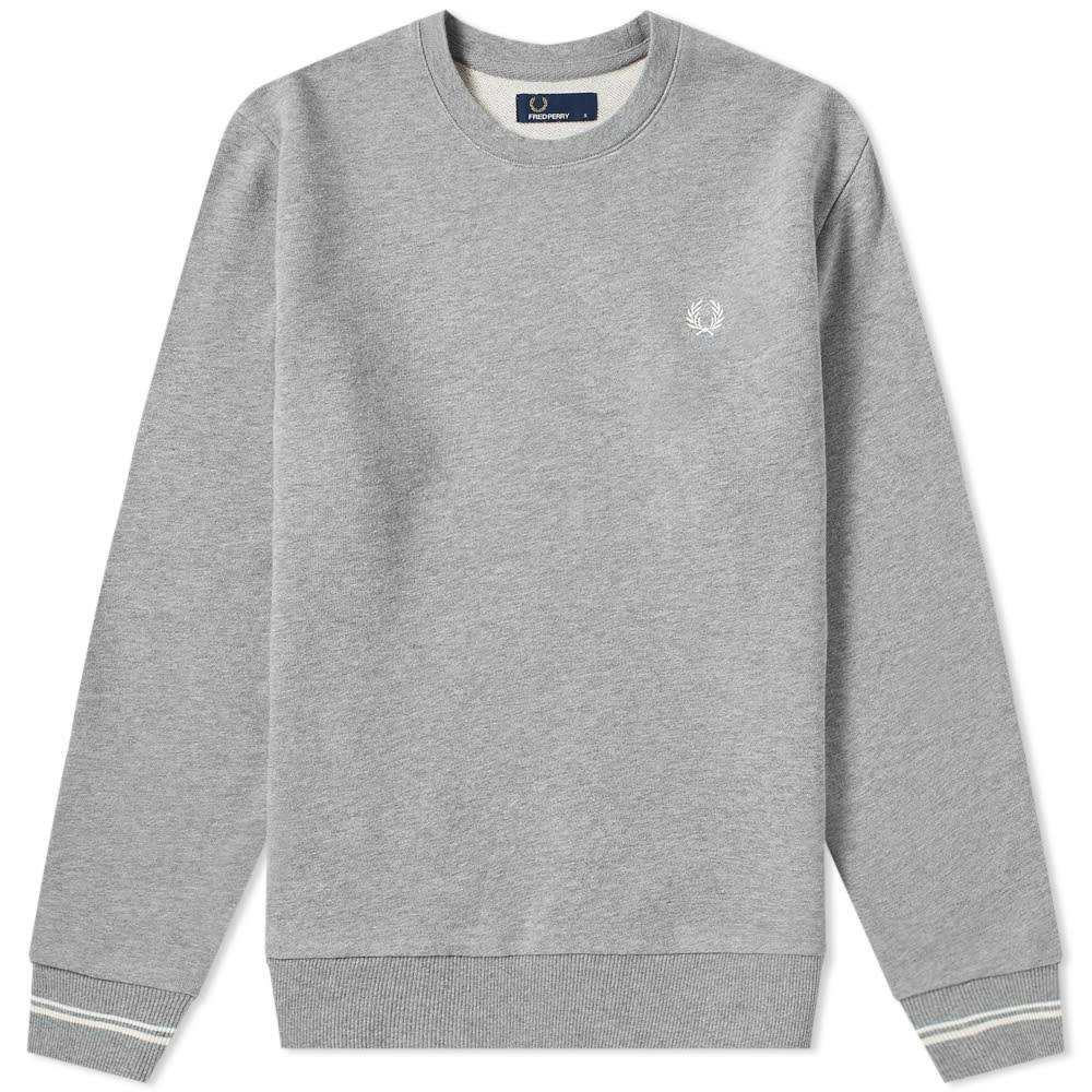 Crew Fred Fred Perry Grey Perry Neck IDH2WYE9