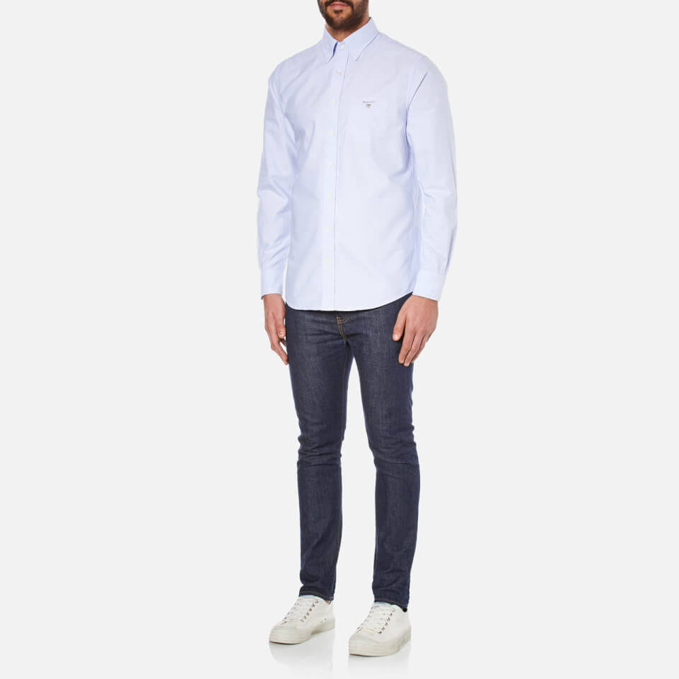 Capri Men's Hemden Shirt Gant Accessoires S amp; Size Blue Oxford Tops Kleidung gt;kleidung HgSAqEw