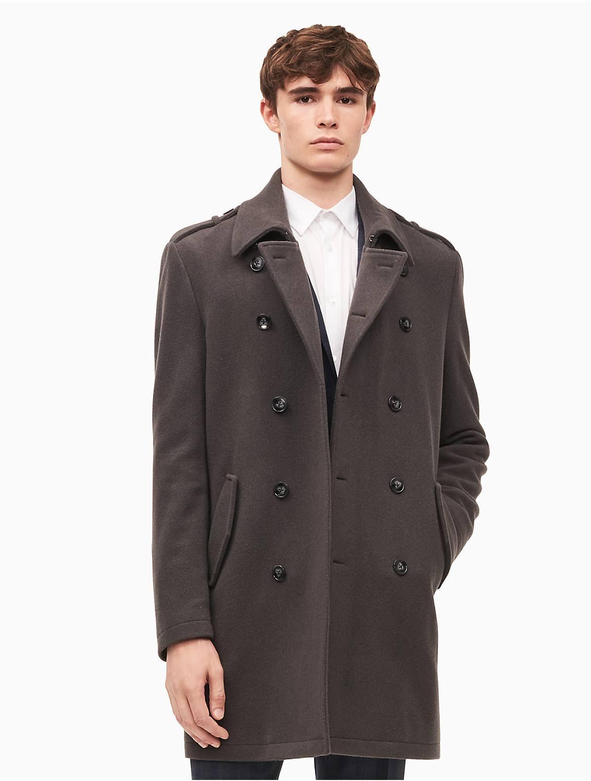 Klein Coats Double Calvin Meade Top Grauer Herren unvergleichlich Körper Breasted 7wpqqSdO1x