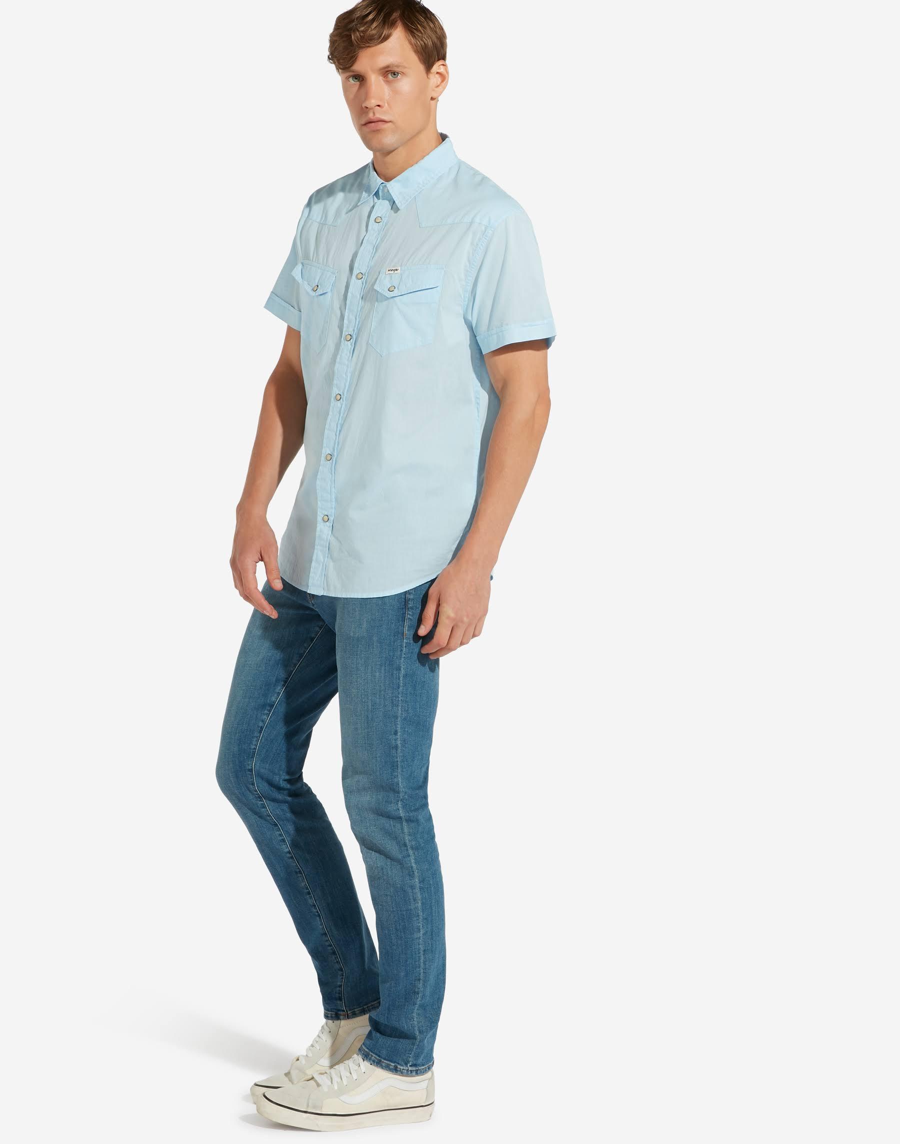 Cerulean Western Shirt M Hombre Talla Azul Wrangler Claro qHwtB1nt
