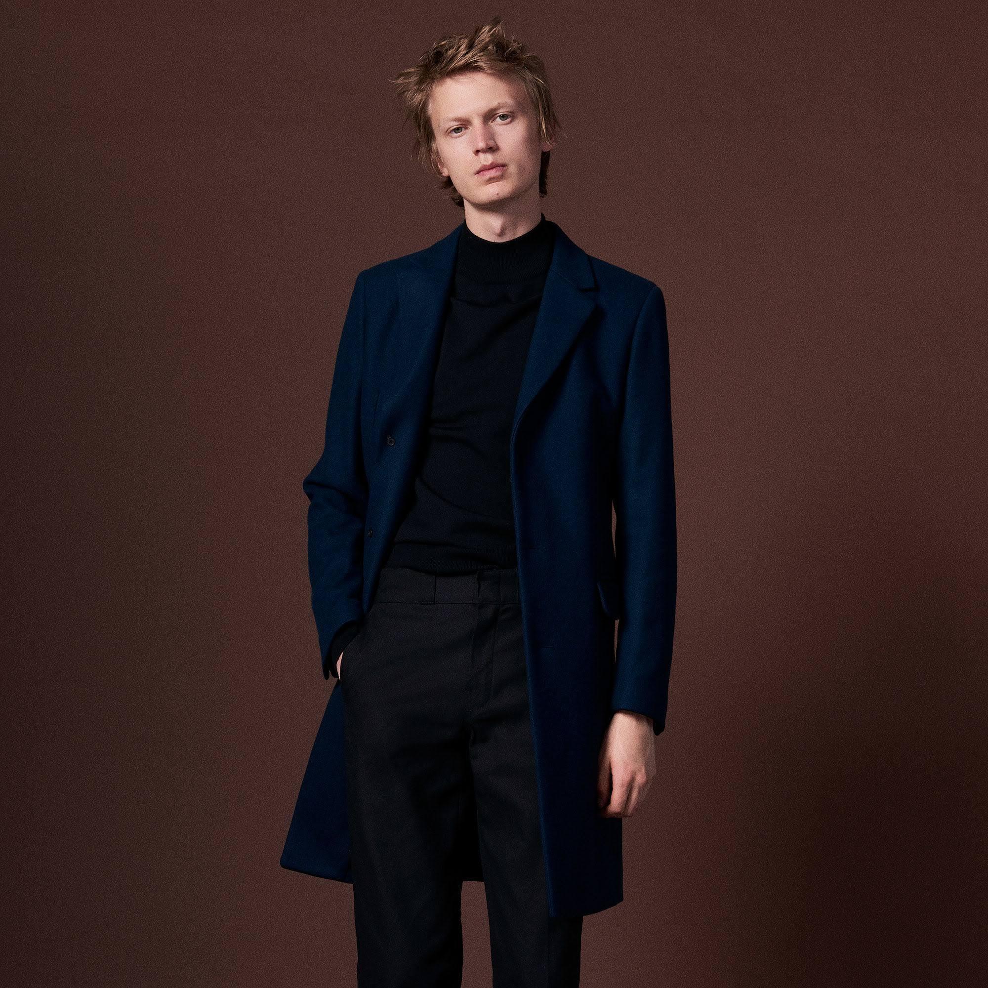 Sandro Einer Aus Mantel Tailored Wollmischung wqRU8Tx