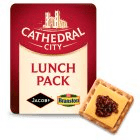 Cathedral City Mature Cheddar Cheese Slices with Crackers & Pickle Snack x4 122g
