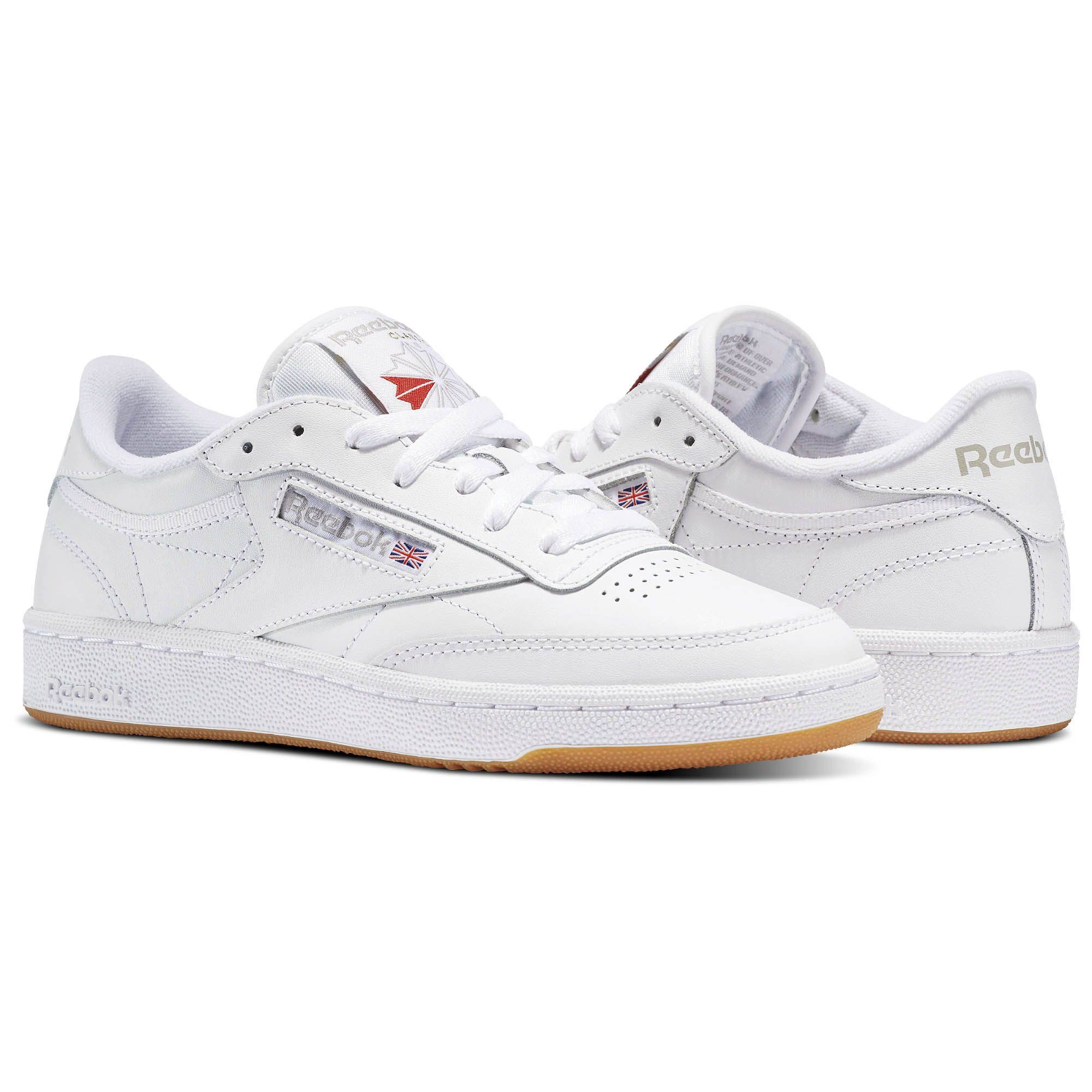 – C light Gray Reebok Classic gum Club Sneaker Grey 85 White gum qCwqXT5