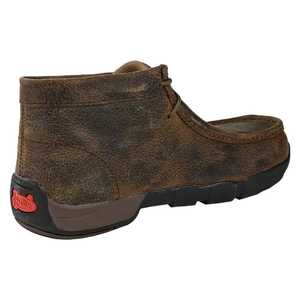 Acciaio Scuro Justin Marrone Punta In Cappie Boots F3KJuTlc1