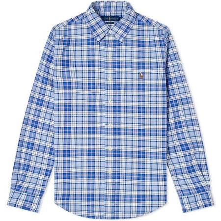 Azul Lauren Polo Camisa De Salmón Ralph Cuadros A Y 6YqYBxz