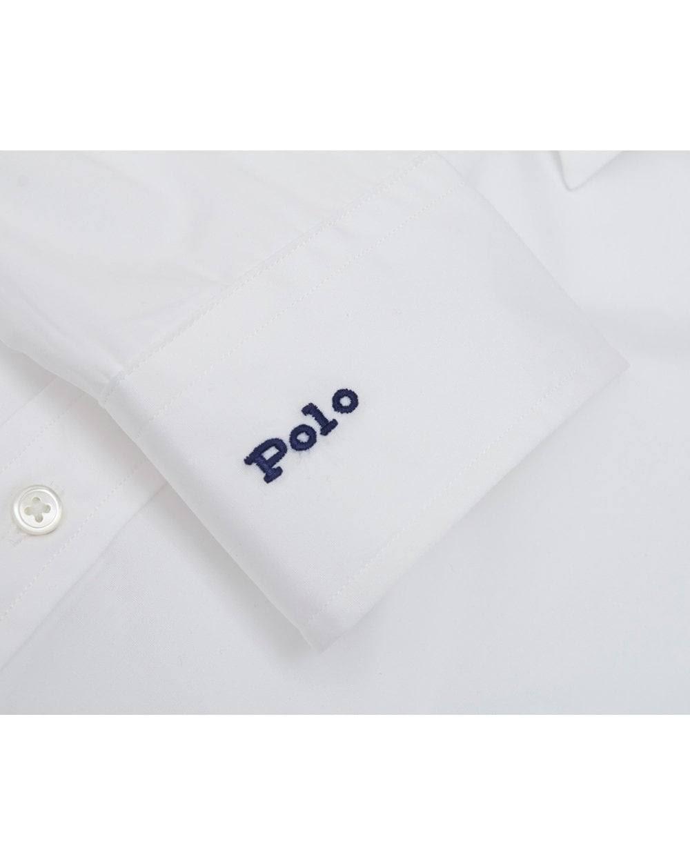 Ralph Baumwolle Weißes Polo Baumwollhemd Übergroßes Lauren 10 Aus FddxC