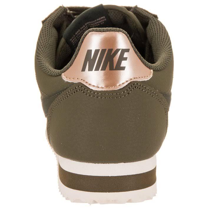 La Mujer Cortez 8 Deporte Para Negro Zapatillas Verde Meta Línea Cuero De Nike Clásicas Metalizado qzYvwFTx