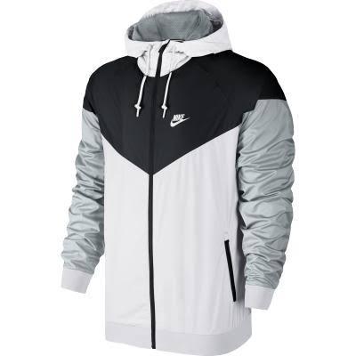 Nike Windrunner Erkek Kapüşonlu Beyaz Sportswear Ceket CBqw4CHnU