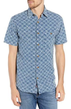 Hombre Faherty De Para Corta Batik Camiseta Manga L Isle wqIRzRSc