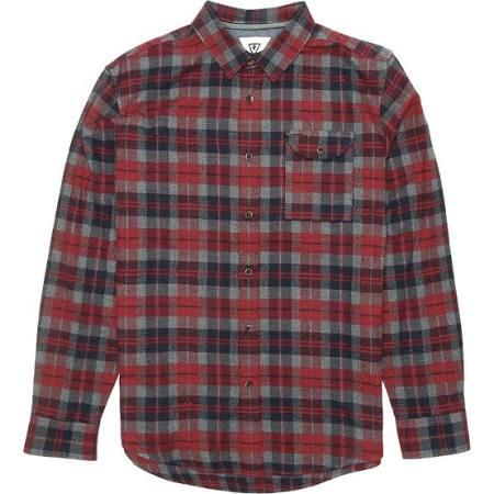 De Central Camisa Vissla Hombre Coast Manga Para Larga Franela Rojo Xxl 74xOaq
