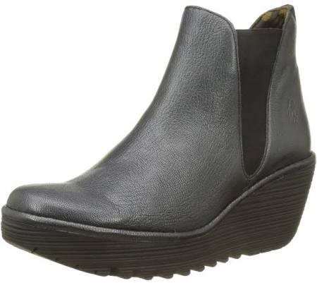 Graphite Women's London Boots Chelsea Grey Fly Leather Yoss wvf5Xxxdq