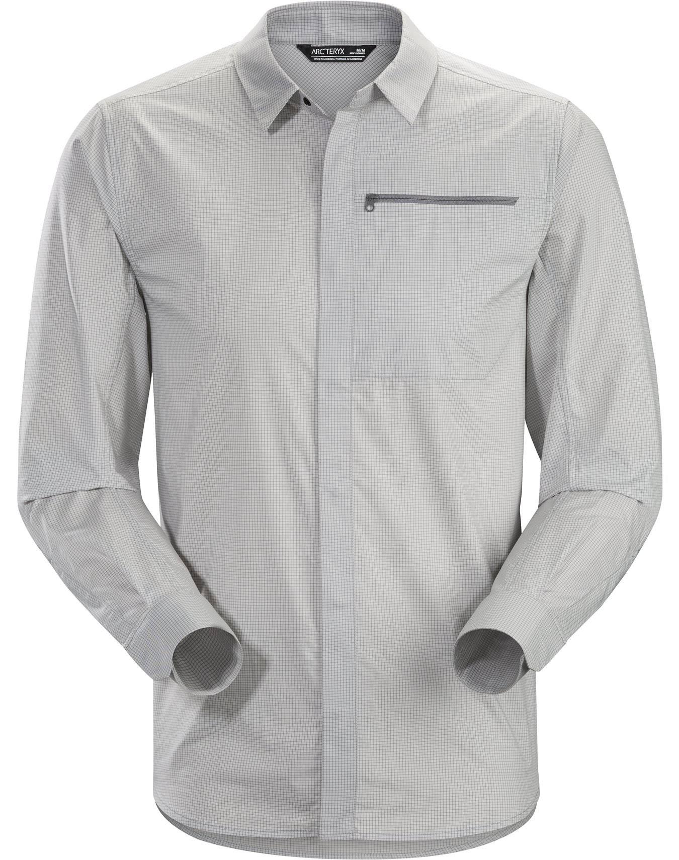 Grey M Hombre Camisa Manga Delos Kaslo De Arc'teryx Larga rqxgUn8qY