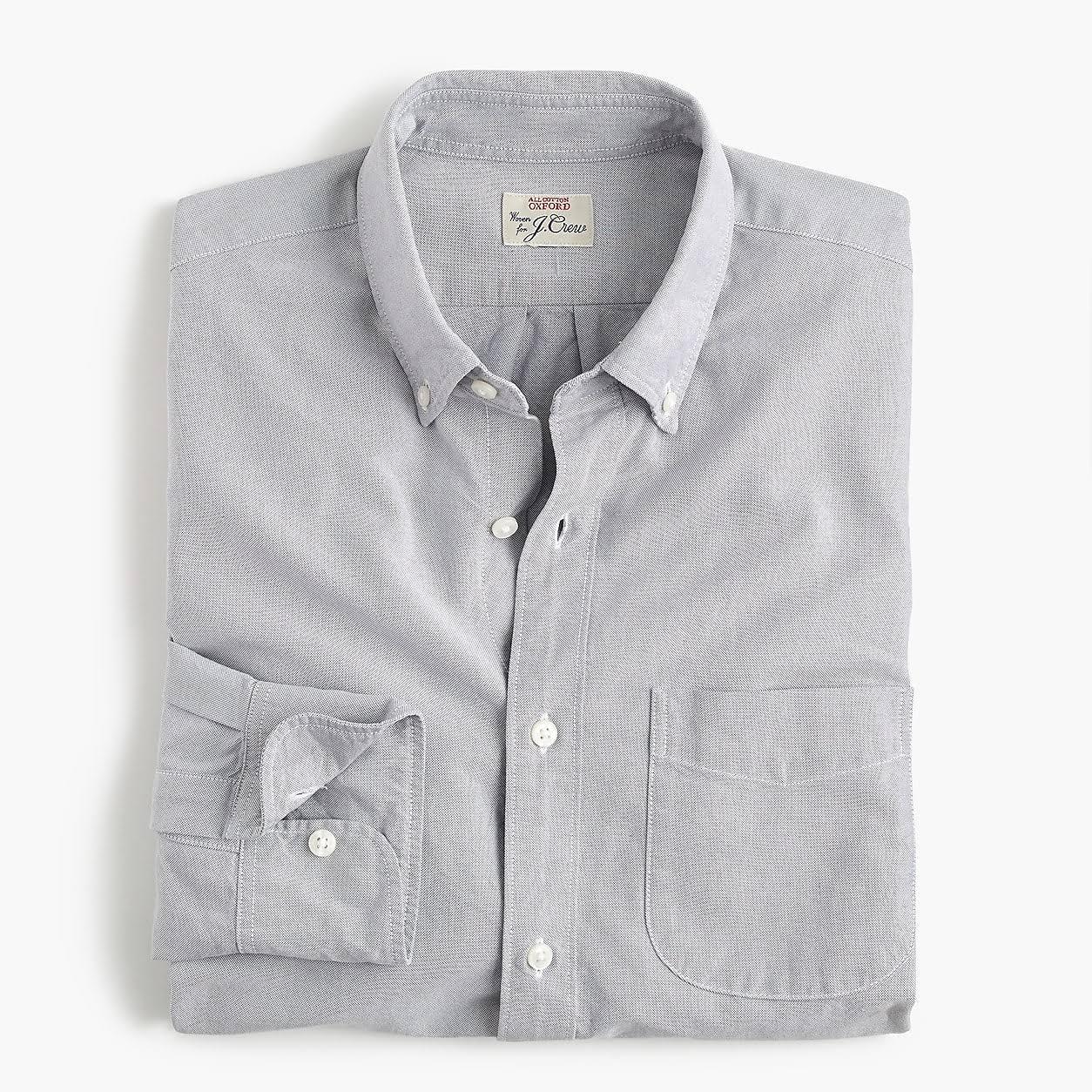 J American Cotton Pima Slim Estiramiento Storm Con tamaño Shirt crew Pequeño Mecánico Mens Oxford Cloud XqRtfXr