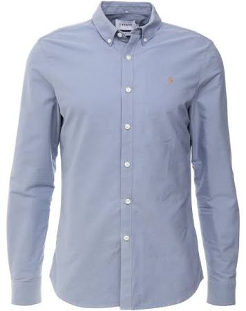 Para Moteado Azul Blue Steel Shirt Claro Tamaño Farah 3xl Hombres Brewer xA8ZII