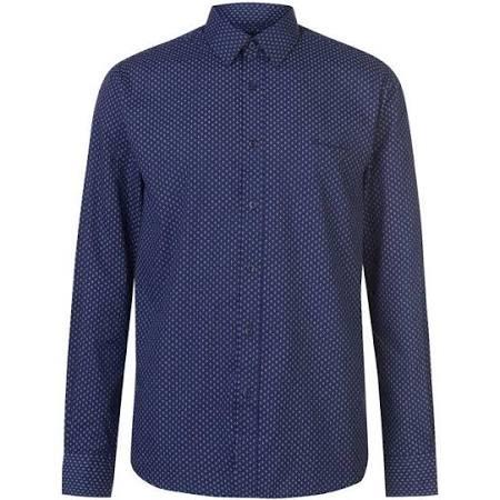 Hombre Talla Larga Pierre Manga M Cardin De Camisa Para Azul aYwH7qW