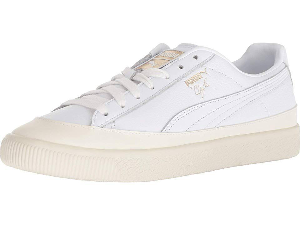 Leather Medium Shoes Men's whisper Puma White D Toe White Clyde Rubber 9 qW7PUOt