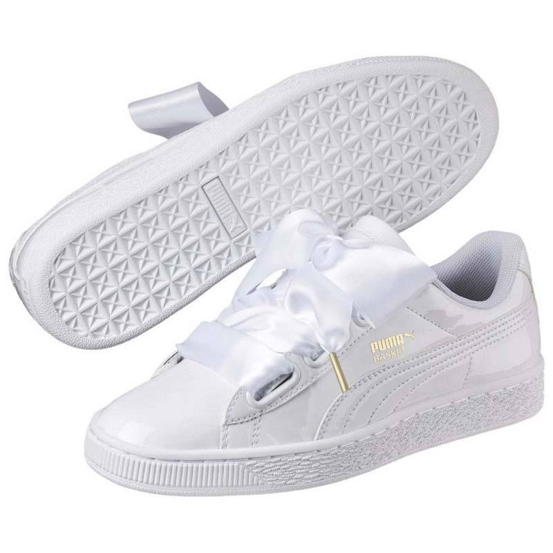 Eu White Select 42 Puma Heart Patent Basket IqTYwT