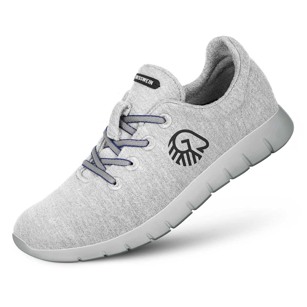 Sneaker Op Giesswein maat48 Wol Merino Runner lichtgrijs Heren vyn0mwN8PO
