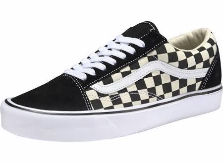 black Old Schuhe beige Vans Checkerboard Schwarz Skool white Lite qZwx1pFT4