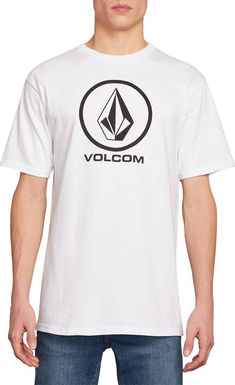 Volcom L Weiß Crisp Kurzarmshirt Stone q0qOwv